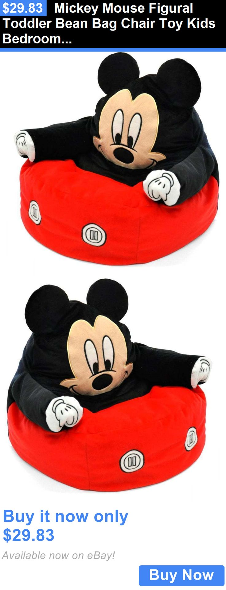 Kids Furniture Mickey Mouse Figural Toddler Bean Bag Chair Toy Bedroom Couch BUY