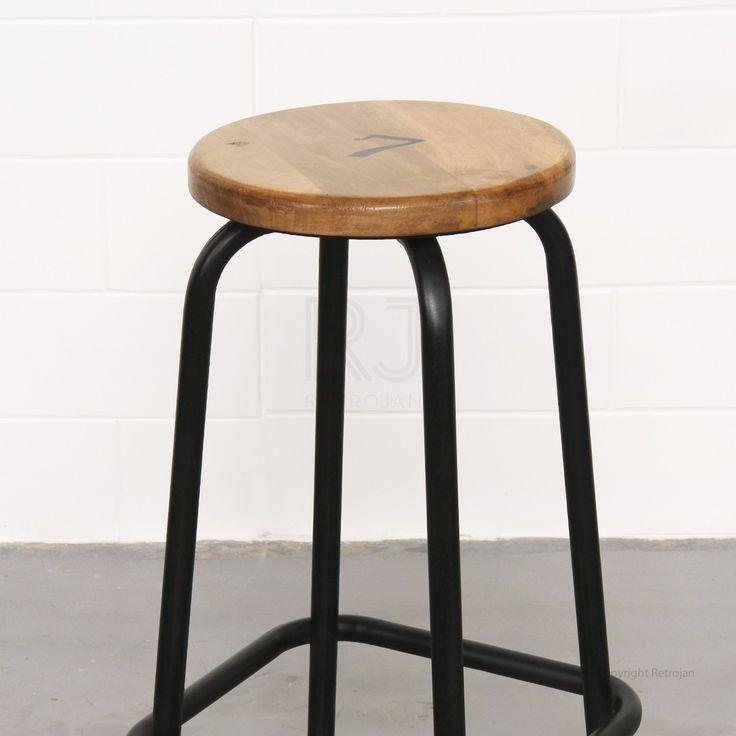 Clifford Industrial Stool - Black