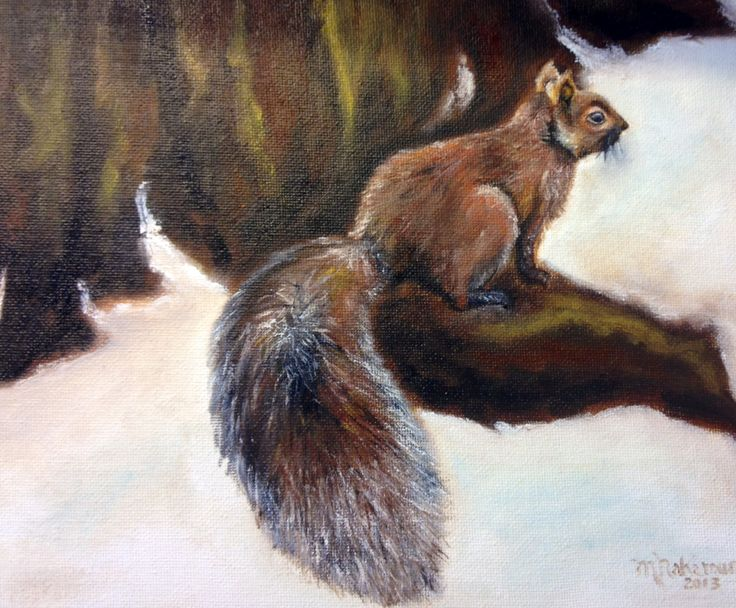 Waiting for spring. Original oil painting on canvas.  Maryrosenakamurafineart@gmail.com