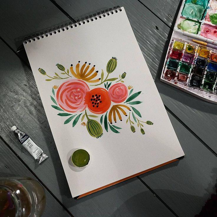 Oodles of doodles. #drawing #painting #art #flowers #floral #doodle #watercolour #sketch #sketchbook