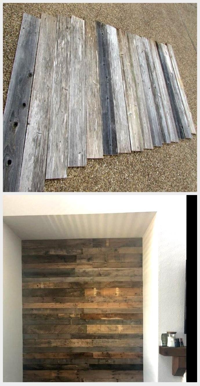 April Kennedy My Life My Style Installing Fence Boards To A Wall My Style Fence Boards Old Fence Boards Fence Board Crafts