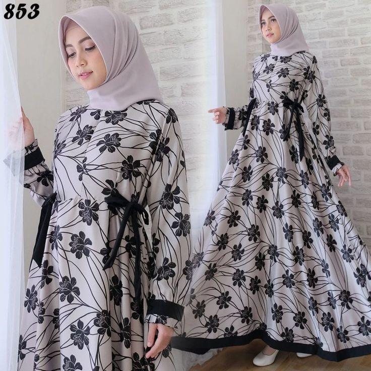 Gamis Cantik Maxmara Bunga C853 Kebaya jilbab, Model