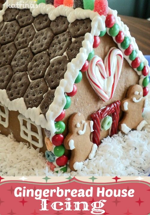 My very favorite Gingerbread House Icing recipe!