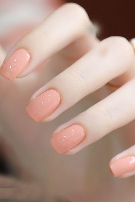 #manicure #peach #nails