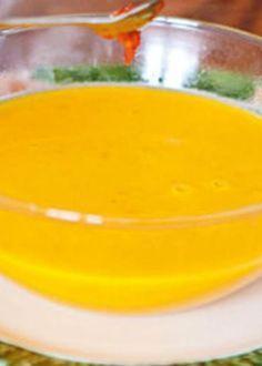 Sopa de abóbora com pasta de malagueta