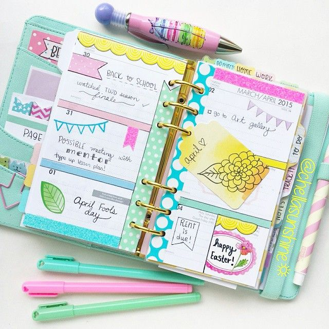 chellasunshine: I'm in love with this week. I love Easter so much simply because of all of the bright colors! #easter #kikkik #kikkikmint #kikkik_loves #kikkikplannerlove #filofax #plannerlove #planner #planneraddiction #stationary