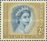 Rhodesia and Nyasaland, 1.7.1954, Queen Elizabeth II. No.12 2Sh brown/blue. Stamped 20,26 USD, Mint Condition 216 USD.