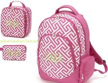 Personalized Backpack Set with Match Lunch and Accessory Bag