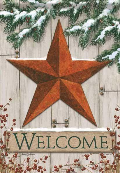 Winter Barn Star