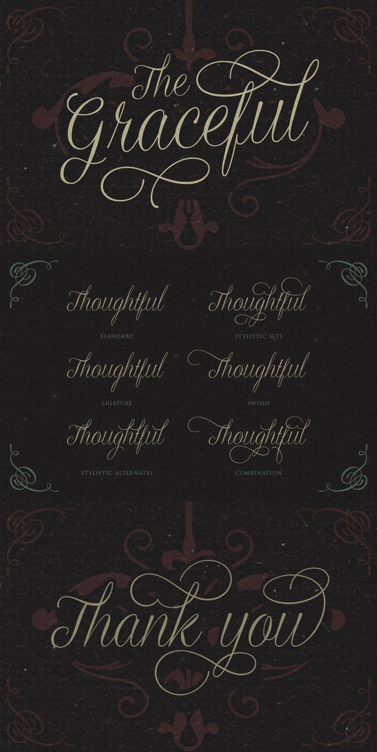 Graceful is a script typeface with a