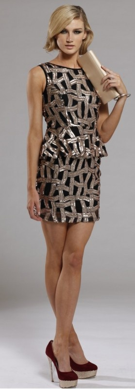 Showcase Peplum Dress by Signature T at AlibiOnline, now: $139.95