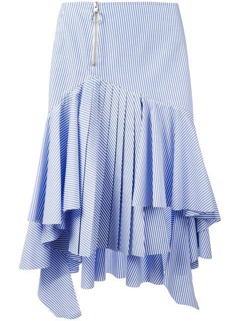 Off-White полосатая юбка с асимметричным подолом