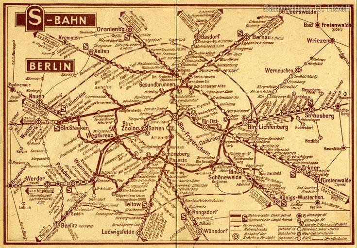 Netzplan der S-Bahn Berlin 1958