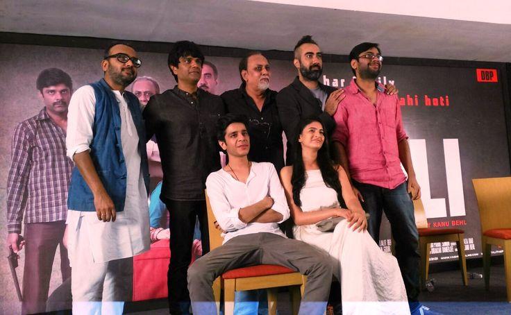 Dibakar Banerjee, Amit Sial, Lalit Behl, Ranvir Shorey, Kanu Behl, (Seated) Shashank Arora, Shivani Raghuvanshi at the press conference of Titli presented by YRF, produced by Dibakar Banerjee and directed by Kanu Behl