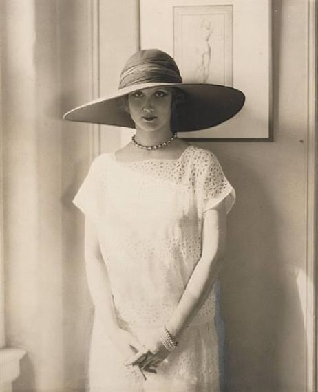 hat. Frances Howard, Bendel Hat, for Vogue by Edward Steichen 1924