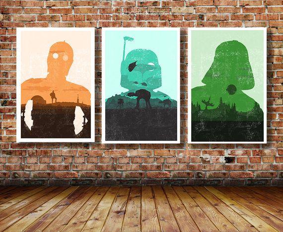 Trilogie der Star WarsLimited EditionKunst von CreativeSpectator, £27.99