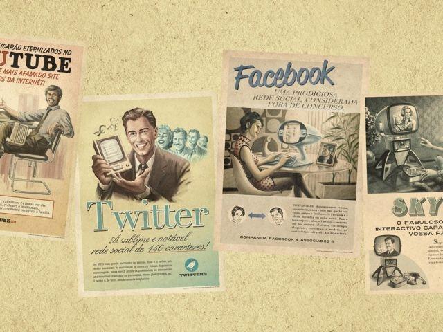 Ретро реклама интернет брендов