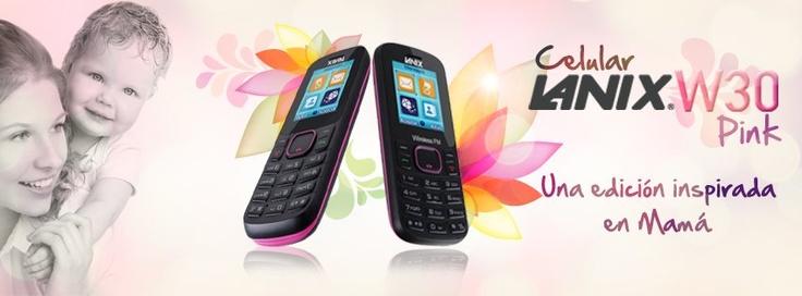 Celular Lanix W30 Pink. Edición especial para el mes de las madres.