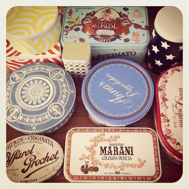instant collection of vintage tins by greta♥loves, via Flickr