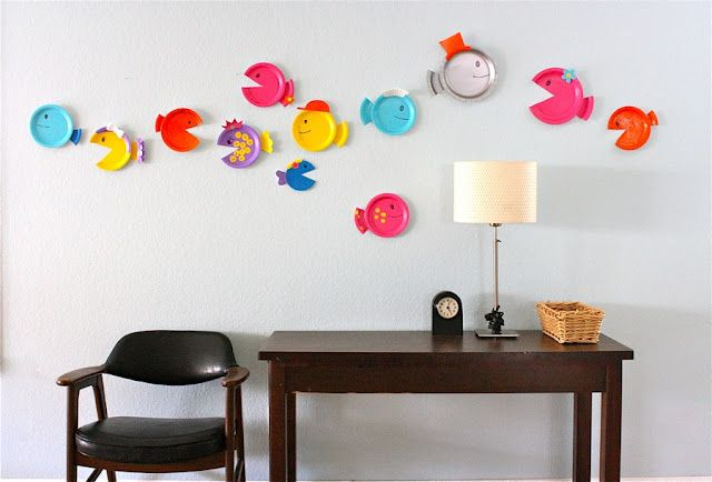 Paper plate fish and other things to make with paper plates!