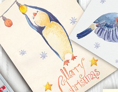 "Check out new work on my @Behance portfolio: ""Watercolor greeting cards for Christmas"" http://be.net/gallery/45697887/Watercolor-greeting-cards-for-Christmas"