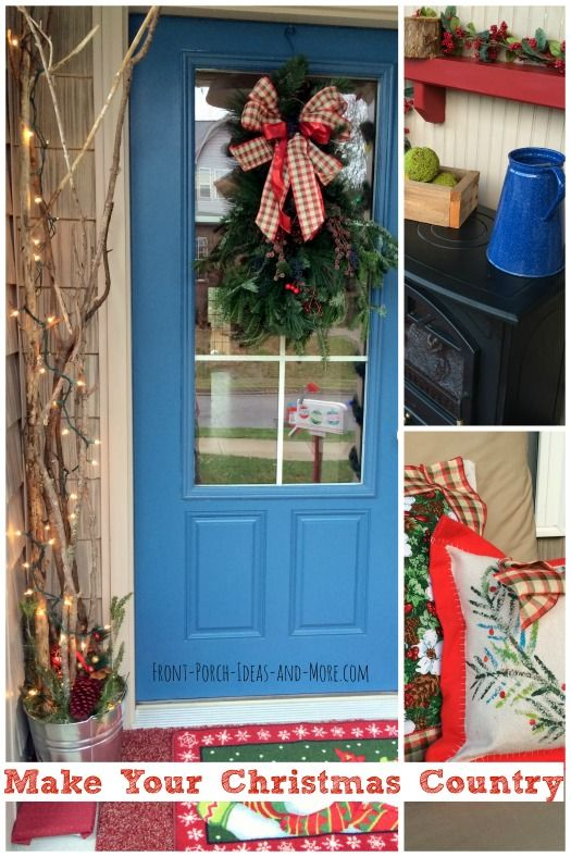 Stop over and see our homemade Christmas decoration ideas for your porch. Found on www.Front-Porch-Ideas-And-More.com/make-outdoor-christmas-decorations.html