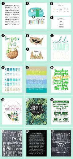 Roundup: 38 Free Summer Printables • Little Gold Pixel