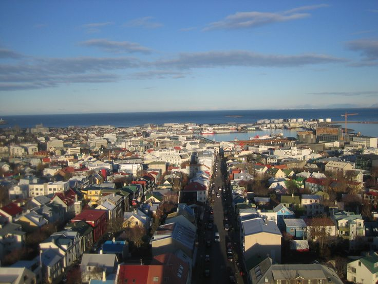 View from the top of Hallgrimskirkja, Reykjavik, Iceland