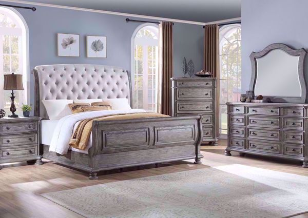 Lake Way Queen Size Bedroom Set Gray Pecan Bedroom Sets Queen Bedroom Sets King Bedroom Sets