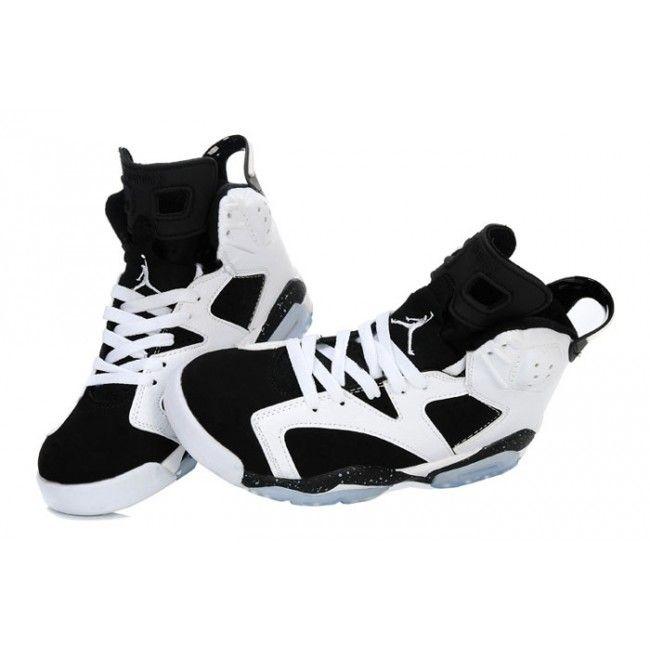 toddler girls jordan sneakers black and white | Home / Black And White Air Jordans 6 For Girls Shoes