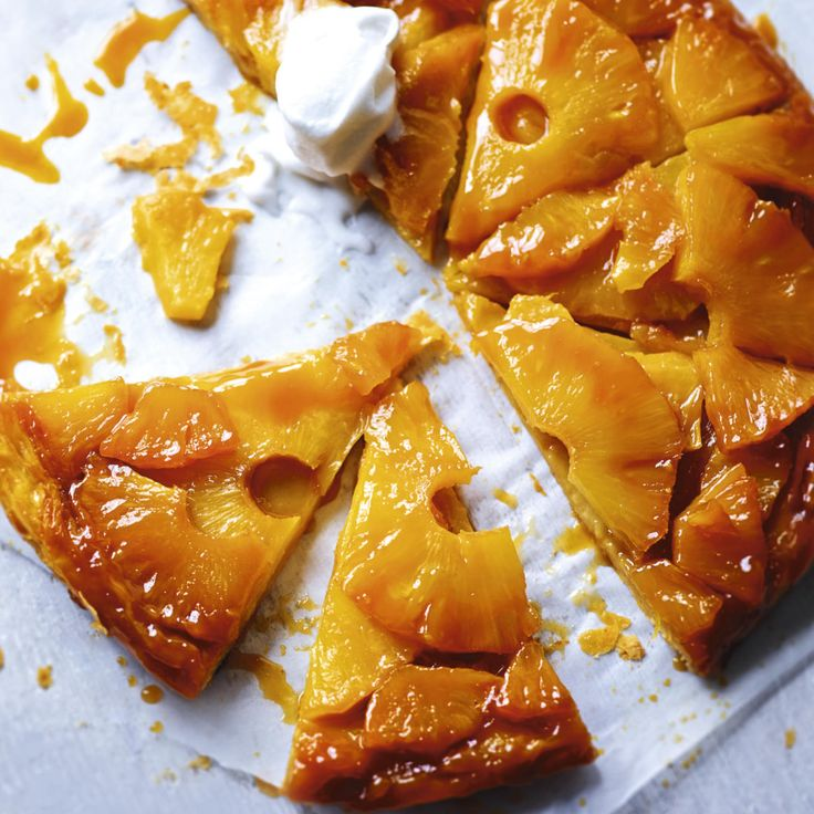 PINEAPPLE AND COCONUT CARAMEL TARTE TARTIN, a delicious recipe from the new…