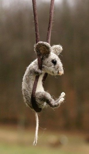 needle felted mouse. motley mutton. by Panda8
