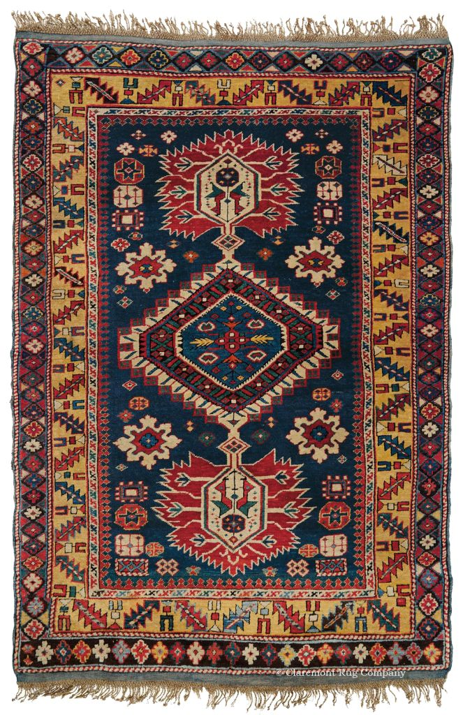 GUBPA SHIRVAN, SOUTHEAST CAUCASIAN, 3FT 4IN X 4FT 9IN, LATE 19TH CENTURY http://www.claremontrug.com/antique-rugs-information/collecting/