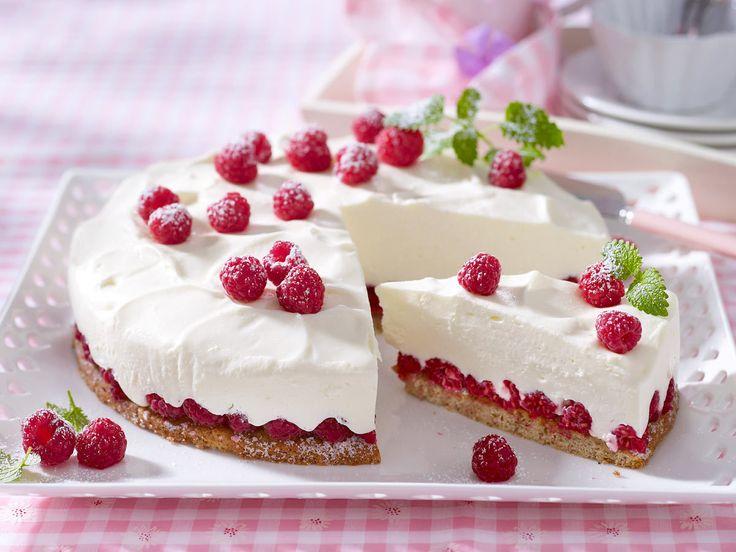 Himbeer-Joghurt-Torte backen  - und so geht's - himbeer-joghurt-torte  Rezept