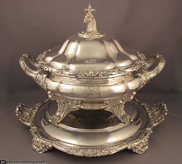 Canadian Tureen Old Sheffield Plate Soup Tureen On Stand