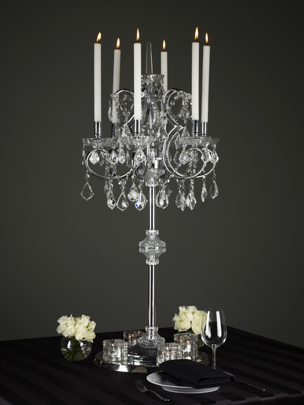 crystal candelabra chandelier centerpiece  #weddingcenterpiece #crystal #centerpiece #galadinnercenterpiece #corporate #tablescapes #centerpieces #decoritevents www.decorit.com.au (5)