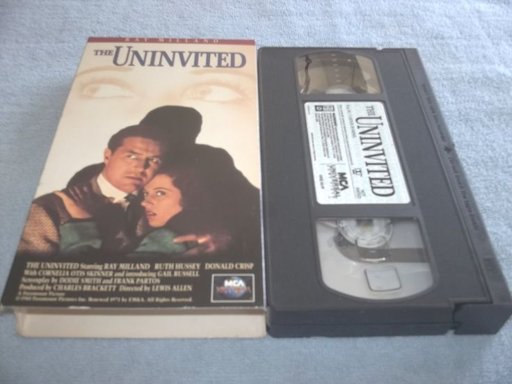 THE+UNINVITED~VHS~RAY+MILLAND,+RUTH+HUSSEY,+GAIL+RUSSELL~1944+GHOST+CLASSIC