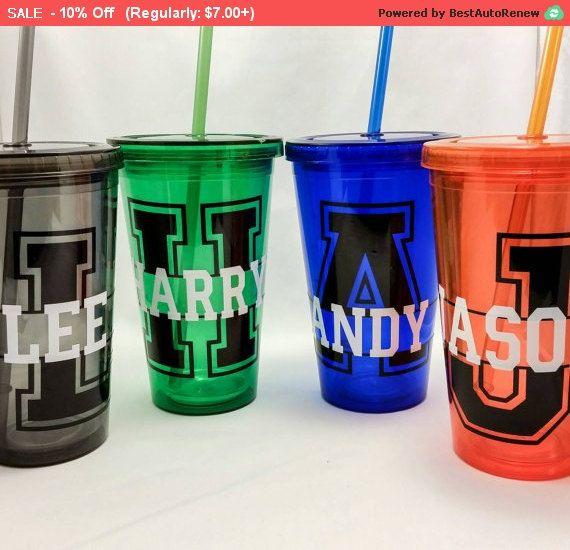 Cij Sale Personalized Acrylic Tumbler, Monogrammed cup, custom design, travel…