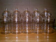 10 X EMPTY PLASTIC VICTORIAN SWEET CANDY JAR (5 Large 5 Small)
