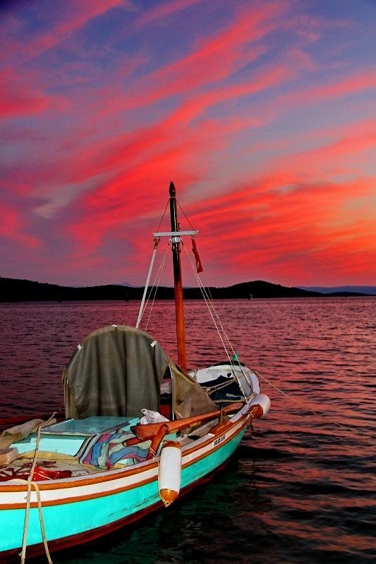Evening Lights in Cunda-I - Ayvalik, Balikesir Turkey