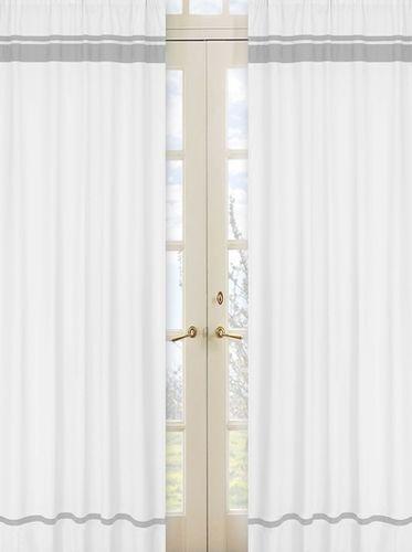 white and gray modern hotel window treatment panels by jojo designs set of 2