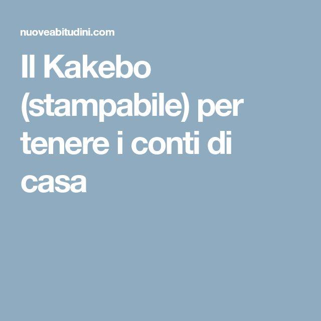 Il Kakebo (stampabile) per tenere i conti di casa