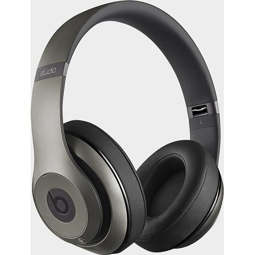 Beats by Dr. Dre - Beats Studio Wireless On-Ear Headphones - Titanium - Angle