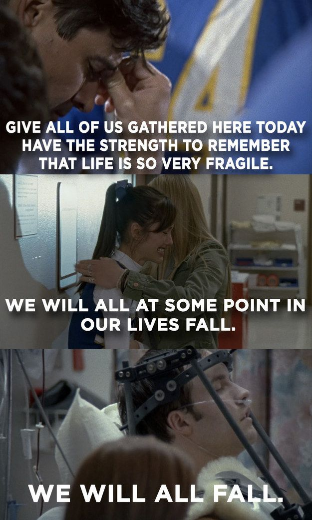 """When Jason Street got injured in the very first episode and you immediately knew you were in for an emotional journey. 