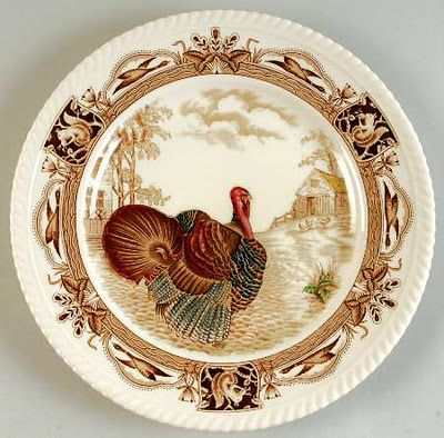 Favorite Turkey Plate--our sons gave us this one Christmas when they were little...
