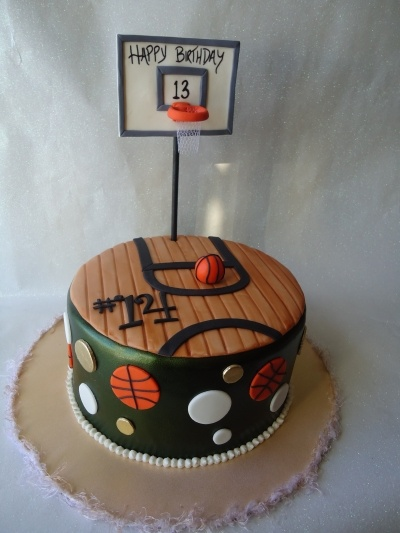 Girlie Basketball Cake! By YOUnique_Cakes on CakeCentral.com