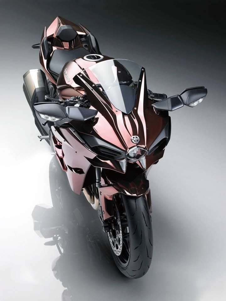 "Bright, and released the 2016 model of the Kawasaki ""Ninja H2"""