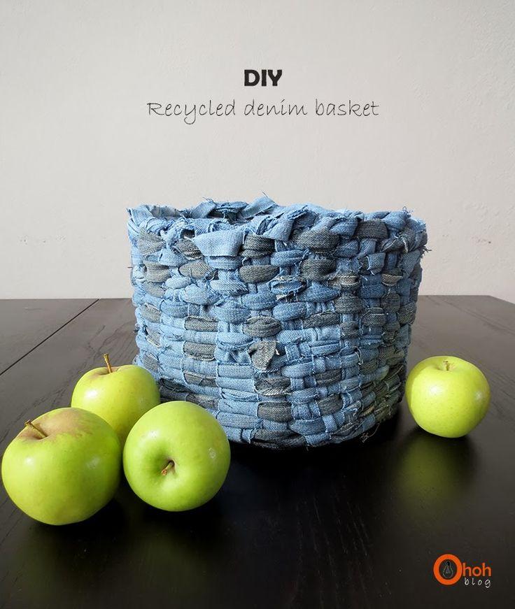 Ohoh Blog - diy and crafts: DIY recycled denim basket