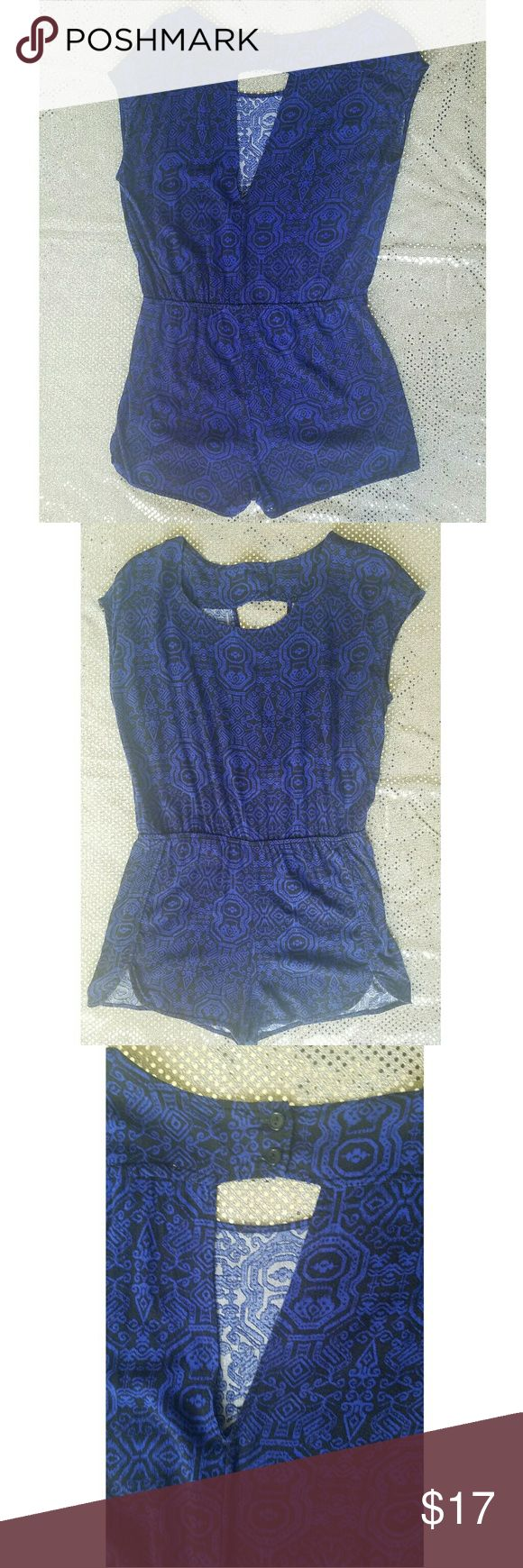 """Ladies Romper Dress it up with heels, or down with flip flops; just another """"any way you want it"""" romper.  Has a little stretch to it, but not much.   Fits more like a Medium Ambiance Apparel Pants Jumpsuits & Rompers"""