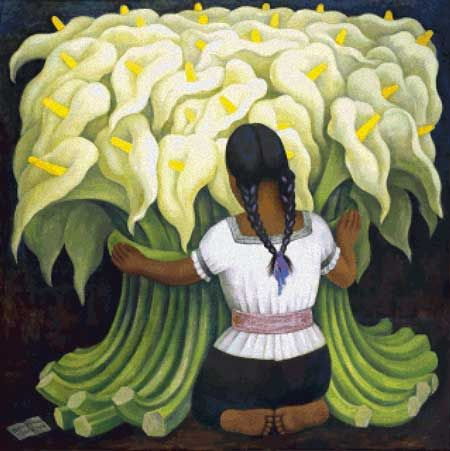 Diego Rivera awesome cross stich